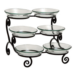 Stylish Fascinating Metal Glass Bowl server - Description: