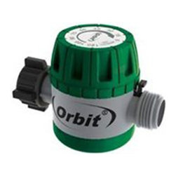 Orbit - Orbit Mechanical Garden Water Timer for Hose Faucet Watering - 62034 - This Orbit hose timer 62034 is easy and simple to use. With 1 easy grip, mechanical dial, this watering timer attaches to any standard outdoor hose faucet. It has a timed watering function that allows for watering times up to 120 minutes. It automatically turns itself off after time runs out. This Orbit 62034 hose water timer can also be used manually so the faucet can be used without removing the timer.Features and Benefits