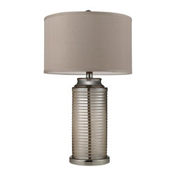 Dimond Lighting - D2319-LED Midland Table Lamp, Polished Nickel - Modern Contempo Table Lamp in Polished Nickel from the Midland Collection by Dimond Lighting.