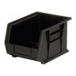 "Akro-Mils - Black Stackable Storage Bins, 10.75""- Set of 6 - AkroBins optimize your storage space. Control inventories, shorten assembly times and minimize parts handling. Heavy-duty polypropylene bins hang from Akro-Mils racks, panels, rails, and carts; securely stack atop each other and sit on shelving. AkroBins are unaffected by weak acids and alkalis. Sturdy, one-piece construction is water, rust and corrosion proof and guaranteed not to break. Autoclavable up to 250Degrees F."