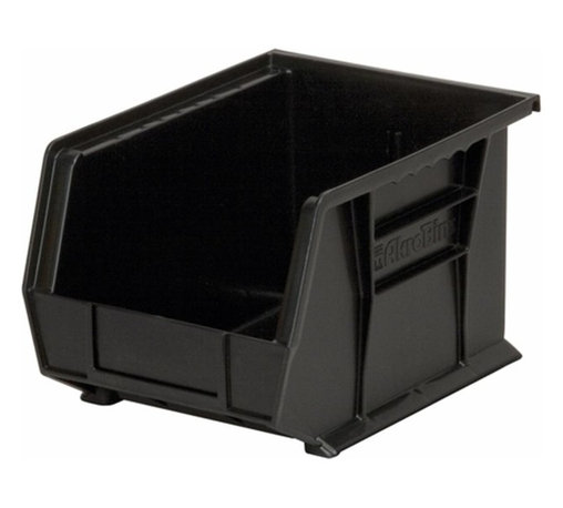 """Akro-Mils - Black Stackable Storage Bins, 10.75""""- Set of 6 - AkroBins optimize your storage space. Control inventories, shorten assembly times and minimize parts handling. Heavy-duty polypropylene bins hang from Akro-Mils racks, panels, rails, and carts; securely stack atop each other and sit on shelving. AkroBins are unaffected by weak acids and alkalis. Sturdy, one-piece construction is water, rust and corrosion proof and guaranteed not to break. Autoclavable up to 250Degrees F."""