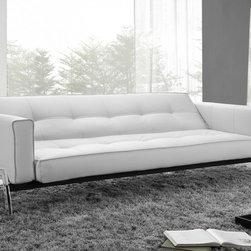Creative Furniture - Romano Convertible Sofa Bed in White Eco-Leather - A gorgeous balance of functionality and style makes this Romano Sofa Bed by Creative Furniture a true space saver. The sofa can be converted into a bed easily. Upholstered in White Eco-Leather.