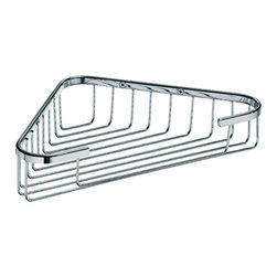 WS Bath Collections - Filo Shower Basket - Filo by WS Bath Collections Shower Basket in Polished Chromed, Solid Brass Base, Made in Italy