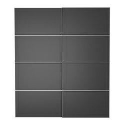 IKEA of Sweden - PAX UGGDAL Pair of sliding doors - Pair of sliding doors, gray