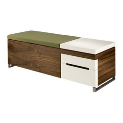 Herman Miller Cognita Bench - This handy bench offers seating and storage rolled up into one attractive package. It'd be just right for a kid's room or the entryway of the house.