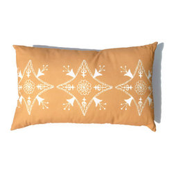 Yellow Rectangle Pillow Suzani Moroccan African 15 x 24 - Suzani Throw Pillow in Yellow Ochre and Off White Print. This is one of my original textile designs printed on 6 oz weight cotton fabric. Back side is solid yellow ochre and this pillow has an invisible zipper for easy access. Can be machine washed separately on delicate cycle, cold water with non-phosphate detergent and line dried. However, dry cleaning is recommended for best result. (Style: Suzani Tile)