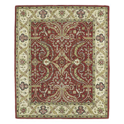 "Kaleen - Kaleen Taj TAJ11 (Red) 5' x 7'9"" Rug - This Hand Tufted rug would make a great addition to any room in the house. The plush feel and durability of this rug will make it a must for your home. Free Shipping - Quick Delivery - Satisfaction Guaranteed"