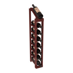 Wine Racks America - 1 Column 8 Row Display Top Kit in Redwood, Cherry Stain - Make your best vintage the focal point of your cellar or store. The slim design is a perfect fit for almost any space. Our wine cellar kits are constructed to industry-leading standards. You'll be satisfied. We guarantee it. Display top wine racks are perfect for commercial or residential environments.