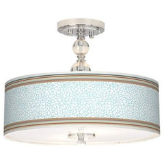 "Dahlia Stripe 16"" Semi-Flush Ceiling Light 