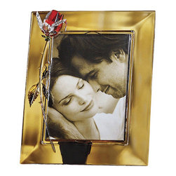 Godinger Silver - Crystal Rose Photo Frame - Nice memories deserve an even nicer presentation. With this Godinger crystal photo frame your picture and chest will have its complete finishing touch. Place one 5x7 photo inside and let your memories come back and stay with your forever! Perfect to give as a gift for a loved one too.
