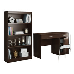 South Shore - South Shore Axess 2 Piece Office Set in Chocolate - South Shore - Office Sets - 72590707259767PKG -