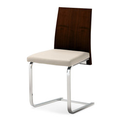 Domitalia - Jeff-SL Dining Chair, Wenge/White - Steel Frame