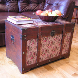None - Savannah Floral Large Wooden Chest Steamer Trunk - Enhance your existing decor with the Savannah Wooden Chest Streamer Trunk from Styled Shopping to provide large storage space in your area.