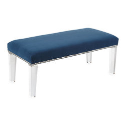 "Massoud - Massoud ""Water's Edge"" Bench - So simple and chic, this is perfect for the foot of the bed."