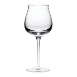 Denby Oyster Red Wine Glass - Set of 4 - The graceful shape of the Denby Oyster Red Wine Glass- Set of 4 makes every glass of wine look like a knockout. The simplicity of a graceful wide-bowl crystal clear wine glass is striking turning the everyday into the extraordinary. The set is dishwasher and microwave safe. About DenbyDenby has its roots in England where skilled craftsman have been making pottery using traditional methods for over 200 years. Though the time and styles have changed Denby has kept pace and today continues to make high-quality beautiful and timeless dinnerware. From its humble roots Denby has spread all over the world and is a top choice for brides and families looking to spruce up their dining sets. Even better all of Denby's products are made for the modern kitchen and are dishwasher- oven- microwave- and freezer-safe.