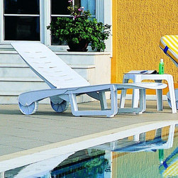 "Compamia - Sunrise Sundance Pool Chaise Lounge (set of 2) (Set of 2) - Features: -Extremely durable for outdoor temperatures.-Resistant to U.V, chlorine, salt, stains, suntan oils.-Back adjustable to 4 different position, plus laying flat.-Perfect for heavy use in outdoor area.-Easy to keep clean.-Sunrise collection.-Number of Products in Set: 2.-Commercial Use: Yes.Dimensions: -Overall Width - Side to Side: 74''.-Overall Depth - Front to Back: 22"".-Overall Product Weight: 31 lbs.Warranty: -Product Warranty: Residential Use - 2 Years Limited / Commercial Use - 1 Year Limited."