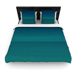 "Kess InHouse - Robin Dickinson ""When We're Together"" Teal Cotton Duvet Cover (King, 104"" x 88"") - Rest in comfort among this artistically inclined cotton blend duvet cover. This duvet cover is as light as a feather! You will be sure to be the envy of all of your guests with this aesthetically pleasing duvet. We highly recommend washing this as many times as you like as this material will not fade or lose comfort. Cotton blended, this duvet cover is not only beautiful and artistic but can be used year round with a duvet insert! Add our cotton shams to make your bed complete and looking stylish and artistic!"