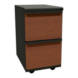 Mobile Pedestal with Laminate Front File Drawers - 23 in. - The Mobile Pedestal with Laminate Front File Drawers - 23 in. ensures that your files are both out of the way and secure. This piece rolls, and has two roomy file drawers that come complete with adjustable hanger bars.