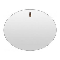Blu Dot - Blu Dot | Hang 1 Oval Mirror - Hang 1 in your entry. Hang 1 in your bathroom. Hang 1 in your bedroom. You get the idea. Smooth, radius-edged mirror  mounts on a playful solid walnut peg. Hang 1 Mirror is available in a variety of other sleek and stylish shapes.