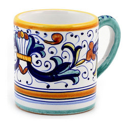 Artistica - Hand Made in Italy - RICCO DERUTA: Espresso Coffee Mug - SCAVO CLASSICO: Combining simplicity and elegance for your home and Garden...