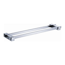 "Fresca - Fresca Ellite Double Bathroom Towel Bar 20"" - All our bathroom accessories are imported and are selected for their modern, cutting edge designs. All accessories are made with brass with a quadruple chrome finish. All our accessories have been chosen to complement our other line of products including our vanities, steam showers, whirlpools, and toilets."