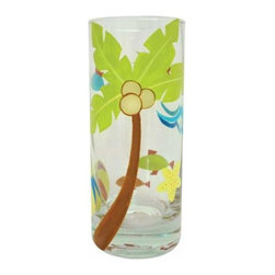 WL - 6 Inch Tropical Palm Motif 10 Ounce Collins Style Tall Drinking Glass - This gorgeous 6 Inch Tropical Palm Motif 10 Ounce Collins Style Tall Drinking Glass has the finest details and highest quality you will find anywhere! 6 Inch Tropical Palm Motif 10 Ounce Collins Style Tall Drinking Glass is truly remarkable.
