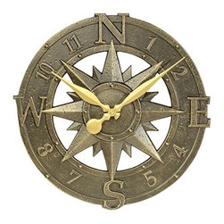 Whitehall Products LLC - One Line Cape Charles Plaque - Estate Lawn Clock - One Line Cape Charles Plaque - Estate Lawn