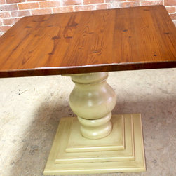 Square Dining Table With Pedestal Base - Made By http://www.ecustomfinishes.com