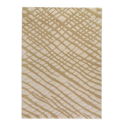 """MAT Orange Fantasma White Rug - 5'2""""x7'6"""" - The rugs in this collection are all inspired by urban lanandscapes, making way for a statement where texture, shape, and line are the form. The rug's texture and the marriage of colors speak to the contemporary room. """"It is the art piece on the floor.  Because of the artistic quality ofThe rugs they are easily used in modern as well as traditional interiors. Pile Height:0. 5 Inches"""