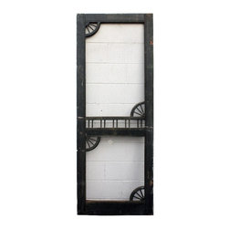 "Antique Exterior Doors - Salvaged Antique 30"" Screen Door with Decorative Detail, c. 1890's"