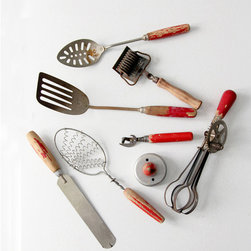 Vintage Kitchen Utensils - vintage kitchen utensil collection