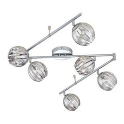 Eurofase Cosmo Collection 6-Light Chrome Track 23208-063
