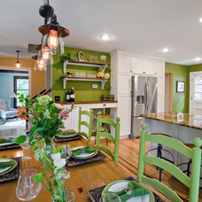 Farmhouse Dining Room by Charleston Home + Design Mag