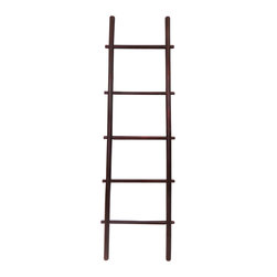 "Master Garden Products - 60"" Bamboo Ladder Rack, choice of rosewood or white stain finish, Rosewood - Our bamboo ladder rack is uniquely designed to be used as a towel rack. It is made of natural solid bamboo and sand finished for indoor use. Extra wide rails for easy hanging, and strong enough to be used for everyday household chores. Your choice of a beautiful white or rosewood stain."