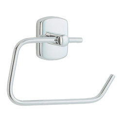 Smedbo - Cabin Toilet Roll Euro Holder in Polished Chrome Finish - Concealed fastening. 6.5 in. W x 4.88 in. H