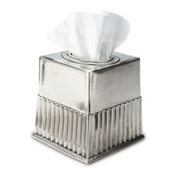 Match Pewter - Impero Tissue Box by Match Pewter - Handmade in northern Italy, each piece bears a stamped symbol from the region in which it was made.