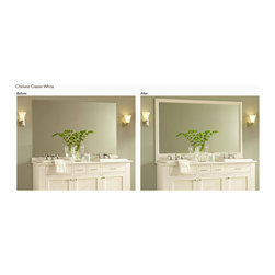 Frame your mirrors! - Transform your bathroom by adding a frame!