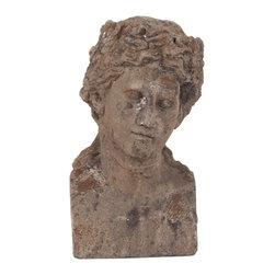 Howard Elliott - Ancient Roman Old World Male Ceramic Bust II - Ancient Roman Old World Male Ceramic Bust II