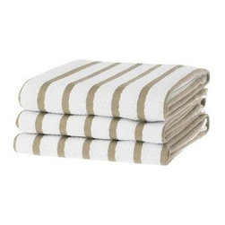 KAF Home - Basketweave Kitchen Towels, Khaki Set of 2 - A kitchen essential. Our absorbent Favo kitchen towels make drying pots, pans and countertops a breeze. The honeycomb weave is made of machine-washable 100% cotton.