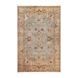 """Surya - Traditional Adana Sample 1'6""""x1'6"""" Sample Light Blue-Brown  Area Rug - The Adana area rug Collection offers an affordable assortment of Traditional stylings. Adana features a blend of natural Light Blue-Brown  color. Hand Knotted of 100% Semi-Worsted New Zealand Wool the Adana Collection is an intriguing compliment to any decor."""