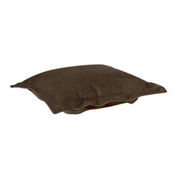 Howard Elliott Bella Chocolate Puff Ottoman Cushion - Extra Puff cushions in Bella are a great way to get a new look without the expense of buying a whole new ottoman! Puff cushions fit Scroll ottoman frames. The Puff Cushion with the lush velvety texture and rich colors of Bella make this the perfect addition to any home.