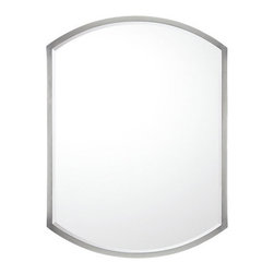 Capital Lighting - Capital Lighting M362474 Decorative Rounded Rectangular Mirror - Capital Lighting M362474 Decorative Rounded Rectangular MirrorEnhance the look of any home with this appealing rounded rectangle design featuring a slender Matte Nickel frame with a central beveled mirror.Capital Lighting M362474 Features: