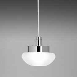 """Leucos - Leucos Ony S Pendant - The Ony S pendant from Leucos is designed by R. Toso, N. Messari & Associates. This small scale pendant comes with a hand poured glass diffuser that provides downward and diffused light. Two glass options and multiple canopy mounts are offered. Companion recessed downlights are also available. The glass diffuser is secured to the lower canopy with a twist and lock mechanism. The suspension is offered with 120'' clear, field adjustable cord and the matching top canopy mounts to a standard 4''junction box.  Product Description:  The Ony S pendant from Leucos is designed by R. Toso, N. Messari & Associates. This small scale pendant comes with a hand poured glass diffuser that provides downward and diffused light. Two glass options and multiple canopy mounts are offered. Companion recessed downlights are also available. The glass diffuser is secured to the lower canopy with a twist and lock mechanism. The suspension is offered with 120'' clear, field adjustable cord and the matching top canopy mounts to a standard 4''junction box.      Manufacturer:  Leucos   Designer:  R. Toso, N. Messari & Associates   Made in: Italy   Dimensions:  width: 5 1/2"""" (14 cm) x height: 120"""" (305 cm)    Light bulb:   1 x 60W G( 120V frosted halogen     Material  glass, metal"""