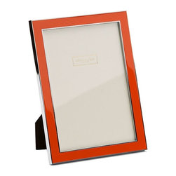 Addison Ross - Addison Ross Orange Enamel Frames, 5x7 - Simply one of our best selling designs and originally designed for one of the Use's best known accessory brands. This frame is finished with a Black flocked back and can stand both in Portrait and Landscape format.
