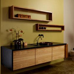 Elm and Soapstone Floatin Vanity -