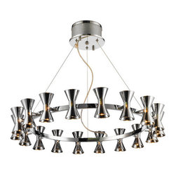 Iberlamp - Iberlamp C308-18 Kim 18 Light 1 Tier Chandelier - Features: