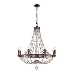 Crystorama Lighting Group - Crystorama Lighting Group 1548-MWP Channing 8 Light Chandelier Hand-Cut Crystals - Specifications: