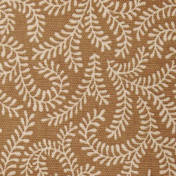 Leaf/Foliage/Vine - Toast Upholstery Fabric - Item #1011488-14.