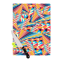 "Kess InHouse - Danny Ivan ""Painting Life"" Abstract Cutting Board (11"" x 7.5"") - These sturdy tempered glass cutting boards will make everything you chop look like a Dutch painting. Perfect the art of cooking with your KESS InHouse unique art cutting board. Go for patterns or painted, either way this non-skid, dishwasher safe cutting board is perfect for preparing any artistic dinner or serving. Cut, chop, serve or frame, all of these unique cutting boards are gorgeous."