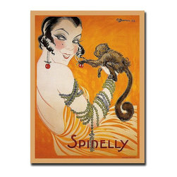 Trademark Global - Spinelly Gallery Wrapped Canvas Wall Art - Giclee on canvas art. Ready to hang. Traditional style. Subject: Vintage. Format: Vertical. Size: Extra large. Canvas material. 35 in. W x 47 in. H (8 lbs.)Giclee is an advanced printmaking process for creating high quality fine art reproductions. The attainable excellence that Giclee printmaking affords makes the reproduction virtually indistinguishable from the original artwork. The result is wide acceptance of Giclees by galleries, museums and private collectors.